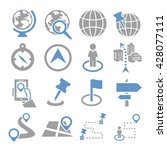 location  place icon set | Shutterstock .eps vector #428077111