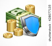 security concept for business... | Shutterstock .eps vector #428077135
