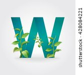 green eco letters logo with...