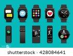 set of smart watches | Shutterstock .eps vector #428084641