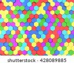 hexagonal background. 3d... | Shutterstock . vector #428089885