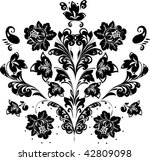 illustration with black and... | Shutterstock . vector #42809098