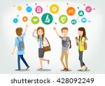 dreamer. students are walking ... | Shutterstock .eps vector #428092249