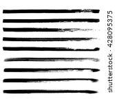 set of black hand drawn lines... | Shutterstock .eps vector #428095375