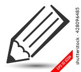 pencil icon. pencil flat logo....