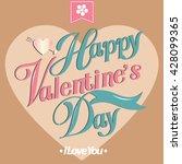 happy valentine day card vector ...   Shutterstock .eps vector #428099365