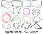 a set of different passport or... | Shutterstock .eps vector #42810109