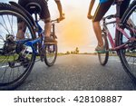 friends cycling together | Shutterstock . vector #428108887