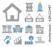 buying home icon set | Shutterstock .eps vector #428112487