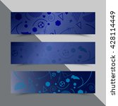 set of flyers with background... | Shutterstock .eps vector #428114449