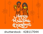 illustration of brother and... | Shutterstock .eps vector #428117044