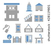 apartment icon set | Shutterstock .eps vector #428119801
