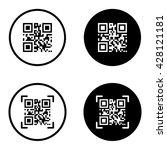qr code scanning icon set in... | Shutterstock .eps vector #428121181