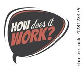 how does it work retro speech... | Shutterstock .eps vector #428123479