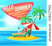 summer holidays background.... | Shutterstock .eps vector #428127901