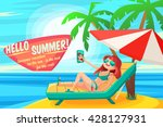 summer holidays background.... | Shutterstock .eps vector #428127931