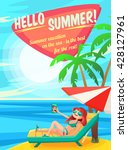 summer holidays background.... | Shutterstock .eps vector #428127961