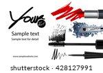 makeup artist business card... | Shutterstock . vector #428127991