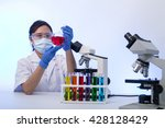 scientist analysis chemical... | Shutterstock . vector #428128429