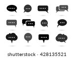 speech bubble icons vector | Shutterstock .eps vector #428135521