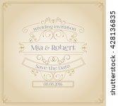 vintage ornament wedding... | Shutterstock .eps vector #428136835
