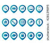 web icons set. mobile icon.... | Shutterstock .eps vector #428139895