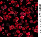 Stock photo seamless rose petals pattern in different dark red tones studio photographed and isolated on 428140489