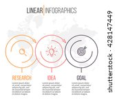 business infographics. linear... | Shutterstock .eps vector #428147449
