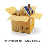 house moving  packaging during... | Shutterstock . vector #428153479