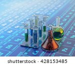chemical experiment  science... | Shutterstock . vector #428153485