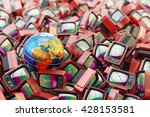 global television ... | Shutterstock . vector #428153581