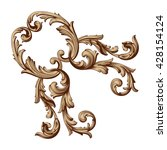 vintage baroque ornament. retro ... | Shutterstock .eps vector #428154124