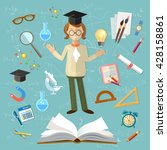 education open book knowledge... | Shutterstock .eps vector #428158861