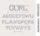 vintage abc alphabet font.... | Shutterstock .eps vector #428161621