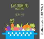 easy cooking master class.... | Shutterstock .eps vector #428171071