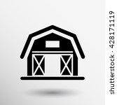 barn icon agriculture farm... | Shutterstock .eps vector #428171119