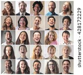 laughing people | Shutterstock . vector #428172229