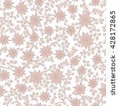 seamless raster floral pattern... | Shutterstock . vector #428172865