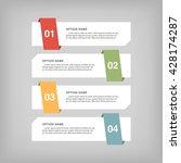 infographic design  options...   Shutterstock .eps vector #428174287