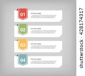 infographic design  options... | Shutterstock .eps vector #428174317