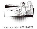 summer kinds of sports. water... | Shutterstock .eps vector #428176921