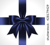 illustration of blue ribbon bow ... | Shutterstock .eps vector #428179429