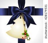 illustration of blue ribbon bow ... | Shutterstock .eps vector #428179531