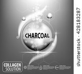 charcoal and collagen... | Shutterstock .eps vector #428183287
