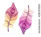 vector illustration of boho... | Shutterstock .eps vector #428193301