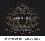 vintage typographic label... | Shutterstock .eps vector #428194099