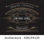 vintage typographic label...   Shutterstock .eps vector #428194135
