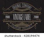 vintage typographic label... | Shutterstock .eps vector #428194474