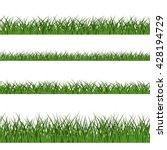 green grass seamless pattern.... | Shutterstock .eps vector #428194729