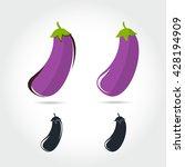 eggplant vector icon cartoon... | Shutterstock .eps vector #428194909